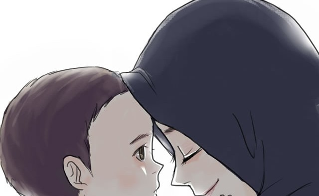 62 Gambar Kartun Ibu Dan 2 Anak Laki Laki HD